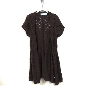Anthropologie sparrow brown Cardigan Sweater m